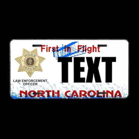 North Carolina Police Officer Custom License Plate