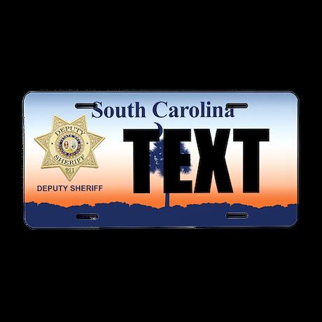 South Carolina Deputy Sheriff Custom License Plate