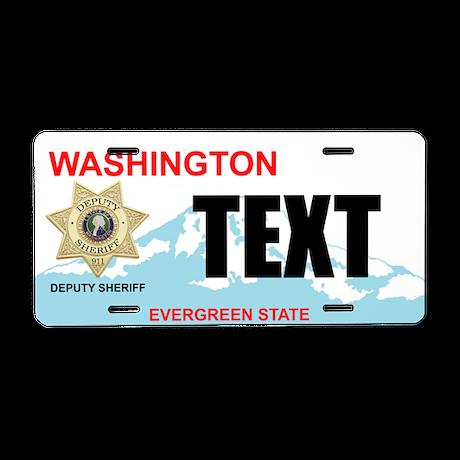 Washington State Deputy Sheriff Custom License Pla
