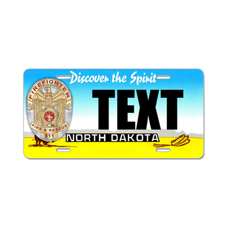 North Dakota Firefighter Custom License Plate