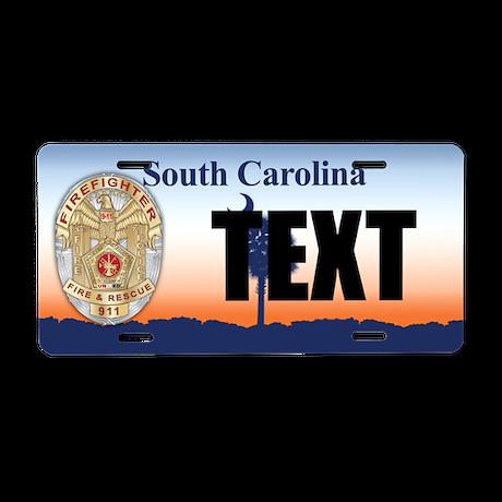 South Carolina Firefighter Custom License Plate