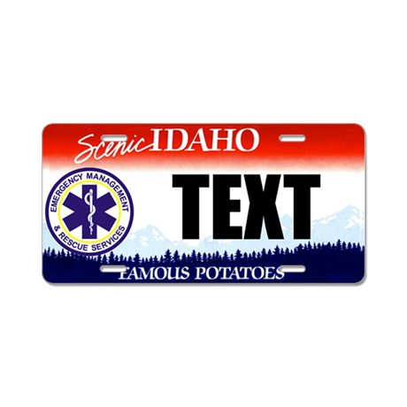 Idaho EMS Custom License Plate