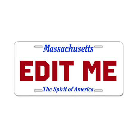 Massachusetts - The Spirit of America license tag