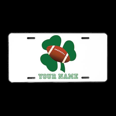 Personalized Irish Football Gift Aluminum License