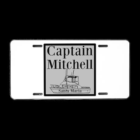 Personalized Captain Aluminum License Plate