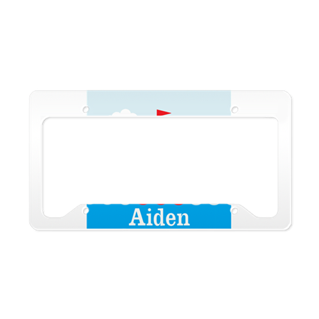 Personalizable Sailboat in the Sea License Plate H