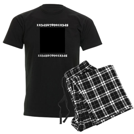 Your Picture Your Text Men's Dark Pajamas