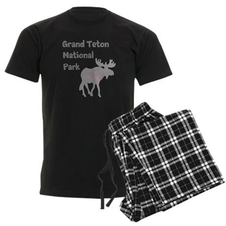 Personalized Moose Men's Dark Pajamas