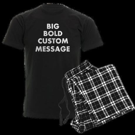 Personalized Bold Font Messag Men's Dark Pajamas