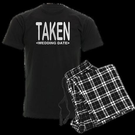 Taken (Add Your Wedding Date) Men's Dark Pajamas