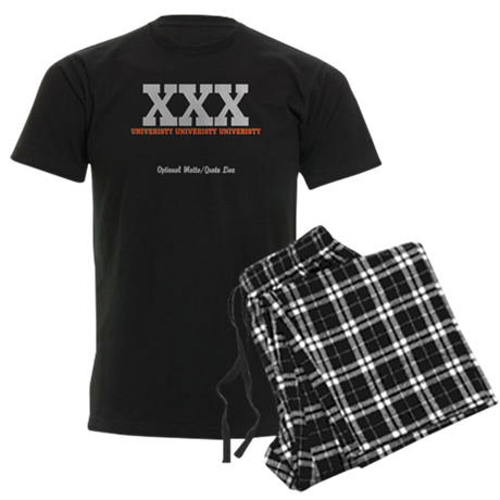 Custom College (orange/grey) Men's Dark Pajamas