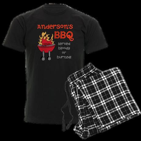 Personalized BBQ Men's Dark Pajamas