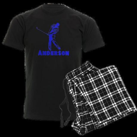 Personalized Golf Men's Dark Pajamas