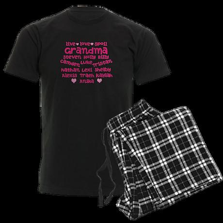 Custom grand kids Men's Dark Pajamas