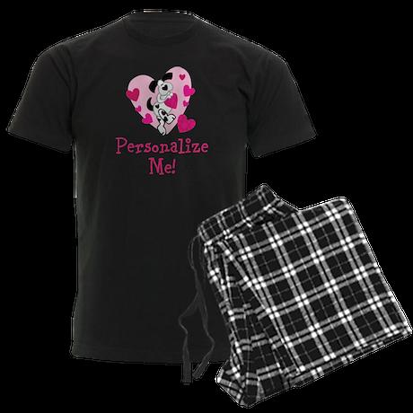 Valentine Puppy Men's Dark Pajamas