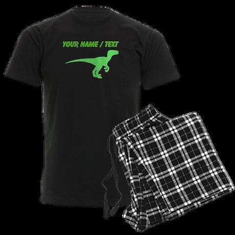 Custom Green Velociraptor Silhouette Pajamas