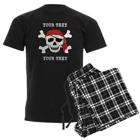 PERSONALIZE Funny Pirate Men's Dark Pajamas