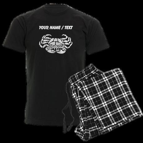 Custom Crab Silhouette Pajamas