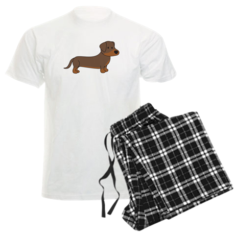 Cute Dachshund Men's Light Pajamas