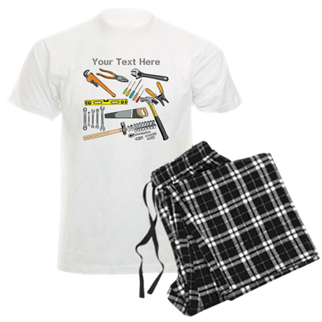 Tools with Gray Text. Men's Light Pajamas