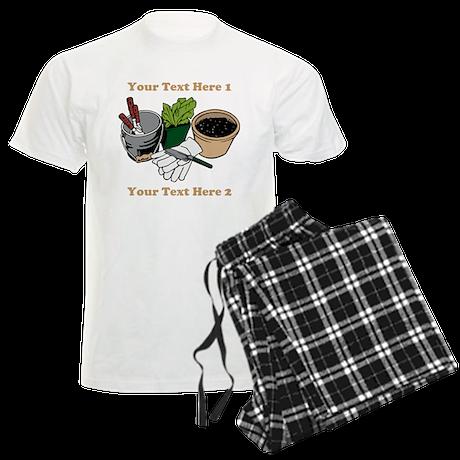Gardening. Men's Light Pajamas