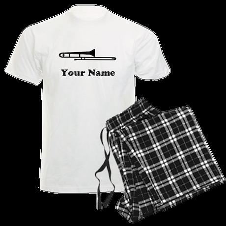 Personalized Trombone Men's Light Pajamas