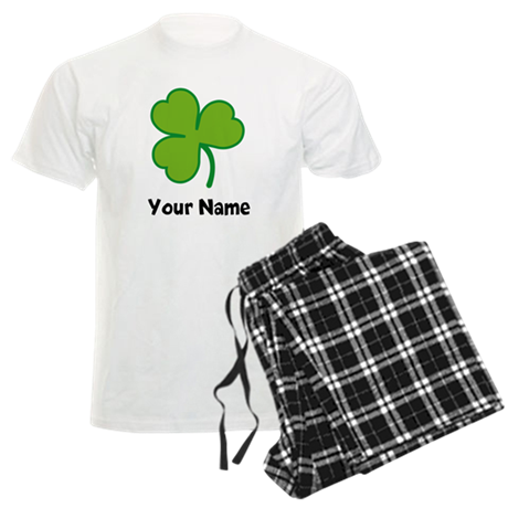 Personalized Irish Shamrock Men's Light Pajamas