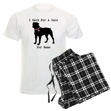 Rottweiler Personalizable I Bark For A Cure Men's