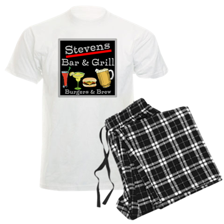 Personalized Bar and Grill Men's Light Pajamas