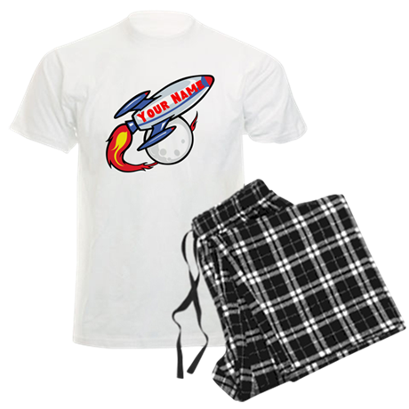 Personalized rocket Men's Light Pajamas