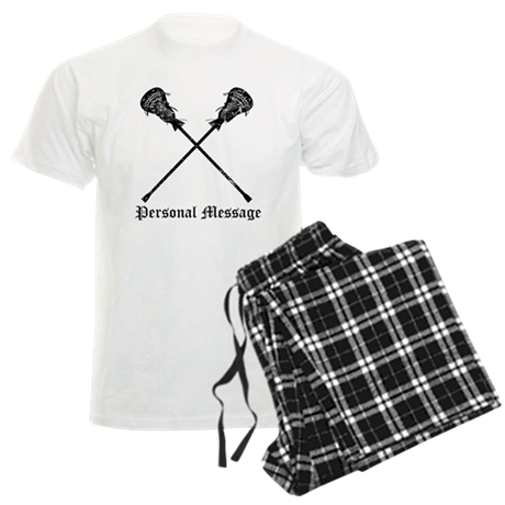 Personalized Lacrosse Sticks Men's Light Pajamas