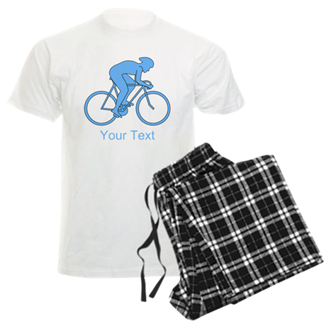 Blue Cycling Design and Text. Pajamas