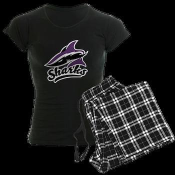 Bay State Sharks Women's Dark Pajamas
