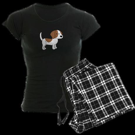 Cute Beagle Women's Dark Pajamas