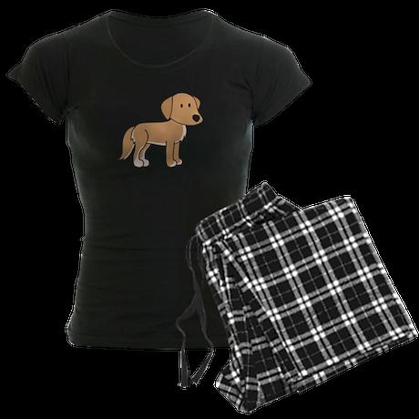 Cute Retriever Women's Dark Pajamas