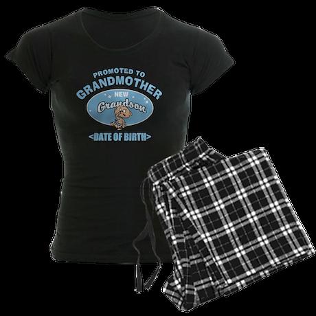 Personalized New Grandmother Women's Dark Pajamas