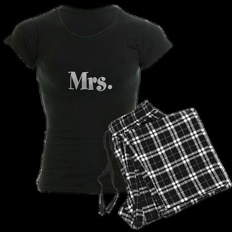 Mr and Mrs pajamas Women's Dark Pajamas