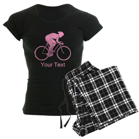 Pink Cycling Design and Text. Pajamas
