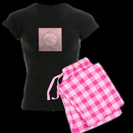 Dainty Darling Monogram Women's Dark Pajamas