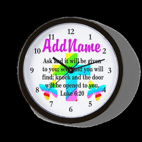 LUKE 6:20 Wall Clock