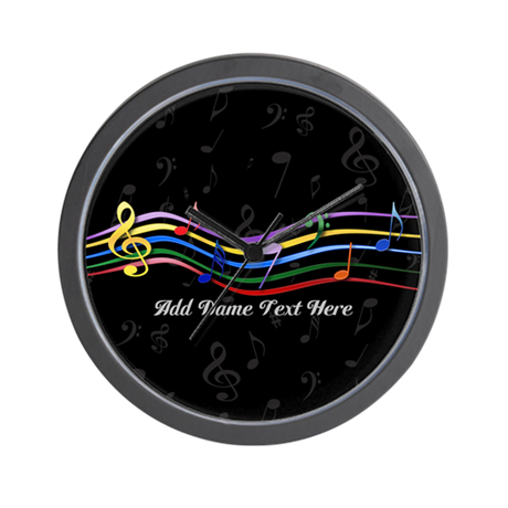Personalized Rainbow Musical Wall Clock