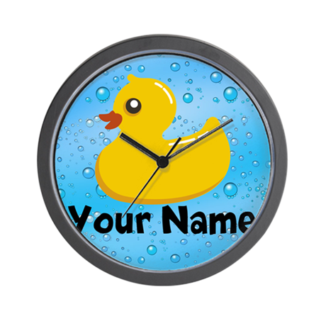 Personalized Rubber Ducky Wall Clock