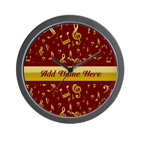 Personalized Red and gold musical notes Designer W
