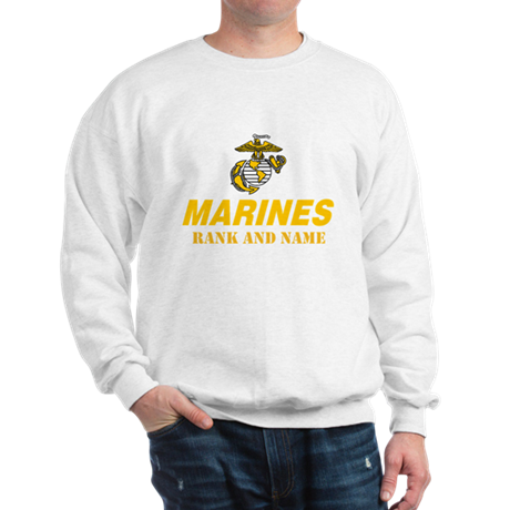 Personalize Marines Sweatshirt