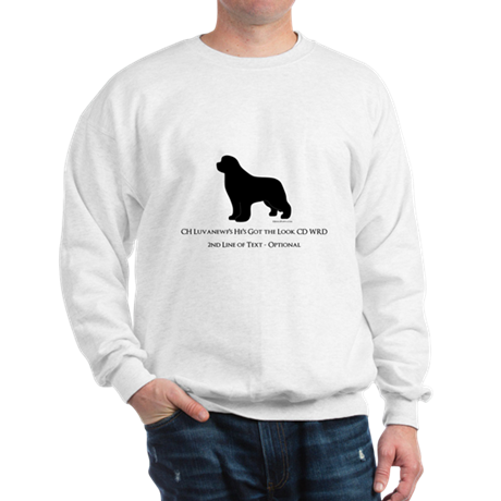 Newfoundland with Customizable Text Sweatshirt