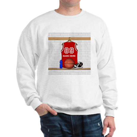 Personalized Basketball Jerse Sweatshirt