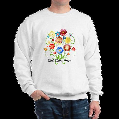 Personalized floral light Sweatshirt