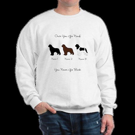 3 Newfs - Black, Brown, Landseer Sweatshirt