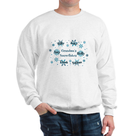 Custom Grandmas Snowflakes Sweatshirt