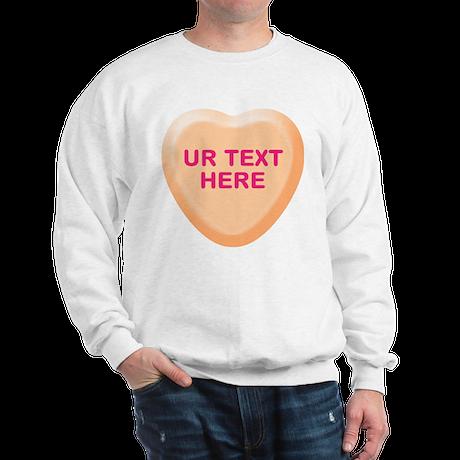 Orange Candy Heart Personalized Sweatshirt